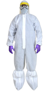 Coveralls : 60 GSM breathable non woven material