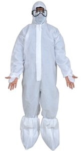 Coveralls: 90 GSM Non Laminated Breathable Non Woven Materia