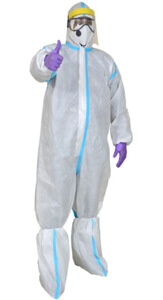 Coveralls: 60 GSM SSMMS Breathable Non Woven Fabric