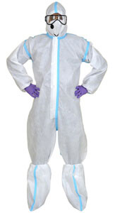 Coveralls: 90 GSM Laminated Non Woven Fabric