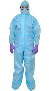Coveralls: 60 GSM Laminated Non Woven Fabric